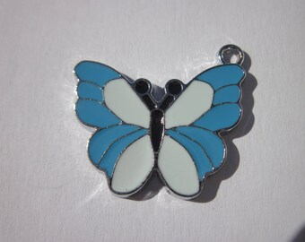 shape of colorful metal Butterfly charm 21 x 25 mm (C6)