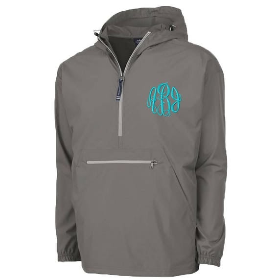 pullover hooded rain jacket