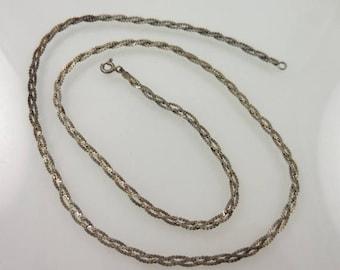 Summer Sale Silver Braided Chain 20''