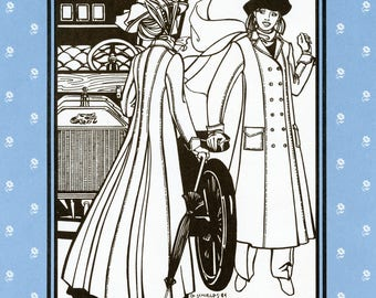 Folkwear Model T Duster - Coat in Street & Ankle Length Sewing Pattern # 230 Misses' sizes 8-16