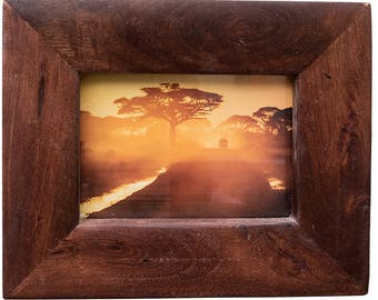 Natural Wood Picture Frame, 5x7 Frame, 4x6 Frame, Handmade Picture Frame, Rustic Home, Wedding Frame, Reclaimed Wood Frame, Easter Gift