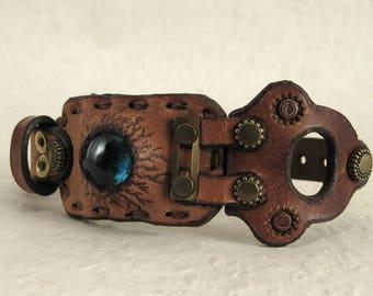 415 Steampunk Burning Man Boho Bracelet Recycled Jewelry