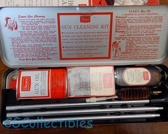 Sears (Outers) #620221 Shotgun Cleaning Kit 12-16ga kit.  LIKE NEW - never used- MINT!  Sears Roebuck & Co. Chicago Ill.