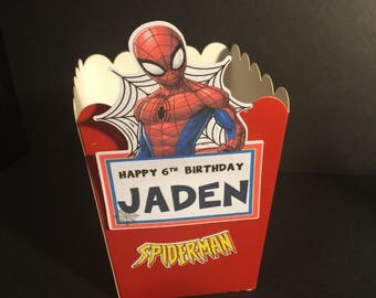 Spider-Man Favor/Treat Boxes Qty: 12