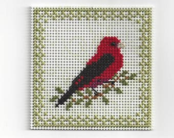 Birds of the Air - Scarlet Tanager - Counted Cross Stitch Chart - PDF Instant Download