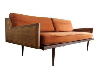 Mid Century Modern Danish Modern Walnut Daybed Sofa