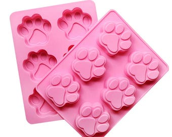 Paws Silicone Mold - Dog Cat Puppy Kitten Baking Fondant Candy Royal Icing Soap Chocolate Pets Animal