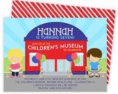 Childrens Museum Invitation, Science Museum Invitation, Museum Invitation, Museum Party Invite, Museum Birthday, Kid Science Invite | 189