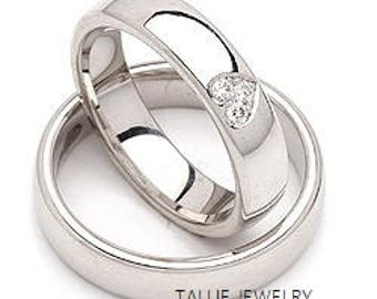 His And Hers Wedding BandsMatching Rings14K White Gold Diamond Bands