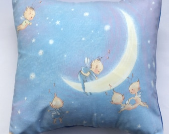 Beautiful Mabel Lucie Attwell Fairies Fairy Fabric Cushion - Handmade by Alien Couture