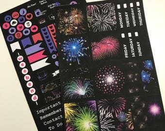 Fireworks Mini Happy Planner Collection - Planner Stickers - Happy Planner