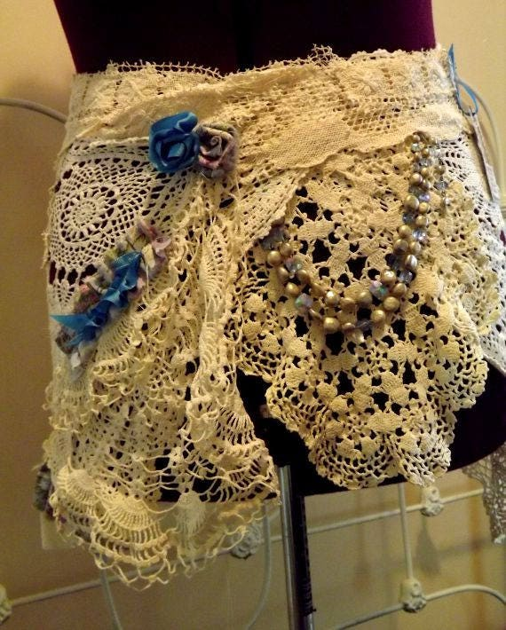 Baby's Blues Plus Size Curvie Girl Wrap Skirt Hip Belt Shabby Couture FREE Shipping USA