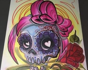 Sugar Skull - 11x14  Print