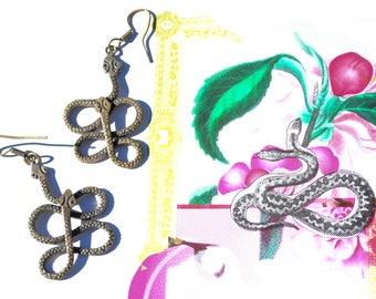 Dangle Snake Earrings
