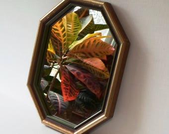 Vintage Octagon Hanging Mirror