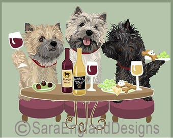 Dogs WINEing - Cairn Terrier