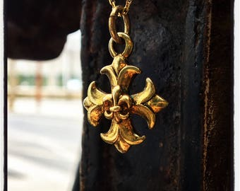 Cross Pendant Crucifix Pendant Silver Cross Pendant Silver Crucifix Pendant Fleur De Lys Pendant Fleur De Lis Pendant Silver Cross Crucifix
