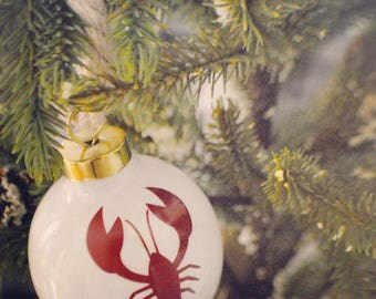 One Lobster christmas ornament/nautical ornament/maine ornament/ maine lobster ornament