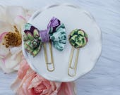 Dainty Planner Clip in Bold Succulent