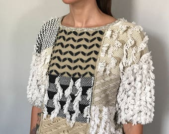 Incredible Toga Pulla Style 80s Fringe Sweater