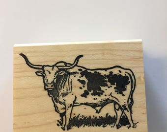 Longhorn rubber stamp