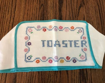 Vintage toaster cover. Embroidered.