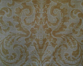 """Andrew Martin """"MAHAL""""  Fabric Heavy Cotton Damask Retail value 129 per yard Mughal Collection"""