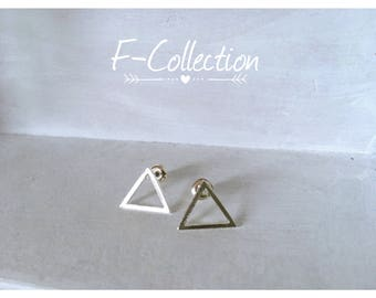 Minimalist earrings triangles graphics