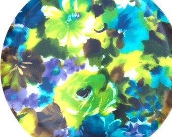 Vibrant Floral Lucite Plastic Tray