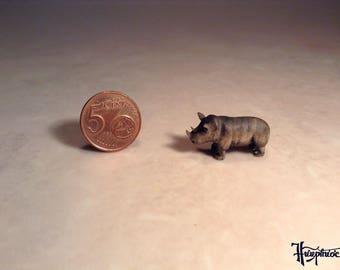 Wooden miniature Rhino (No.3)