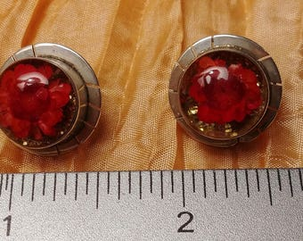 Real Flower Sterling Earrings Mexico