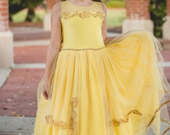 Suzanne Listing: Girl's Belle Inspired Princess Dress Made-to-Order