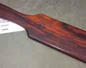 Cocobolo Miss Rose Paddles Exotic Hardwood Stunning Spanking Paddle - OTK Hairbrush style CB099