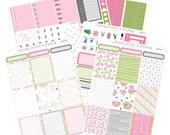 Summer Planner Sticker Kit / Watermelon Planner Stickers / Planner Stickers / Erin Condren Planner Stickers / Weekly Sticker Kit / WK74