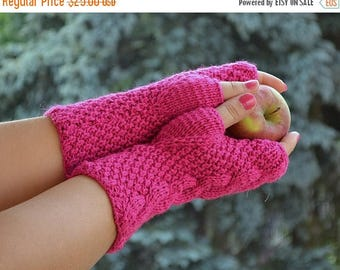 SALE 20% OFF Pink ingerless gloves, knit mittens, gloves, autumn gloves, winter accessories, autumn mittens, autumn accessories, warm mitten