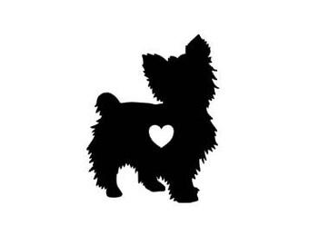 Yorkie Dog car decal, Yorkie gift, Animal car sticker, dog vinyl decal, Gift for animal lover
