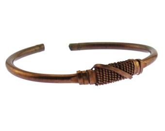 Thin Copper Cuff Bracelet, Men's Copper Bracelet, Men's Copper Cuff Bracelet, Heavy Copper Cuff Bracelet