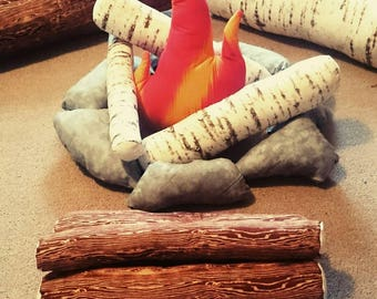 Kids Camping, Pretend Campfire, Play Campfire, Soft Toys, Plush Toy, Kids Toys. Camping, Kids Birthday Gift