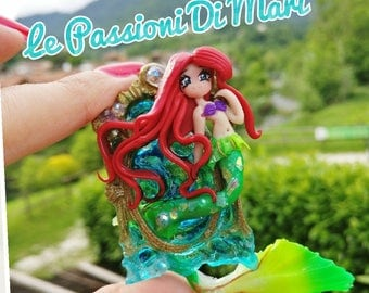Cameo Ariel The Little Mermaid  Polymer Clay on REQUEST
