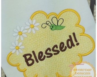 ON SALE Cloud Frame Machine Embroidery Applique Design