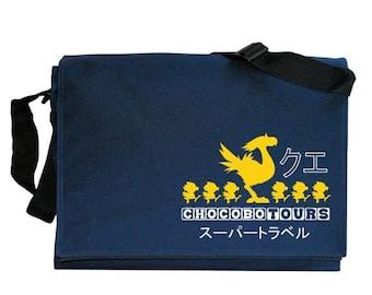ON SALE Chocobo Tours Navy Blue Messenger Shoulder Bag