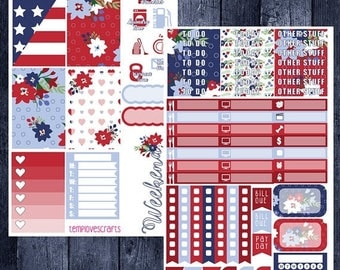On Sale Independence Day Kit for Happy Planner