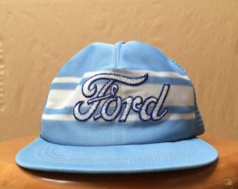 Vintage Ford Motors Adjustable Snapback Trucker Hat One Size Fits All Henry Ford