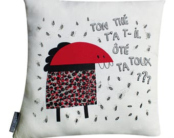 "Cushion BAM ""tea has - it took your cough"""