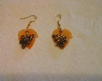 Earrings-Leaf Earrings-Autumn Earrings-Pierced Earrings