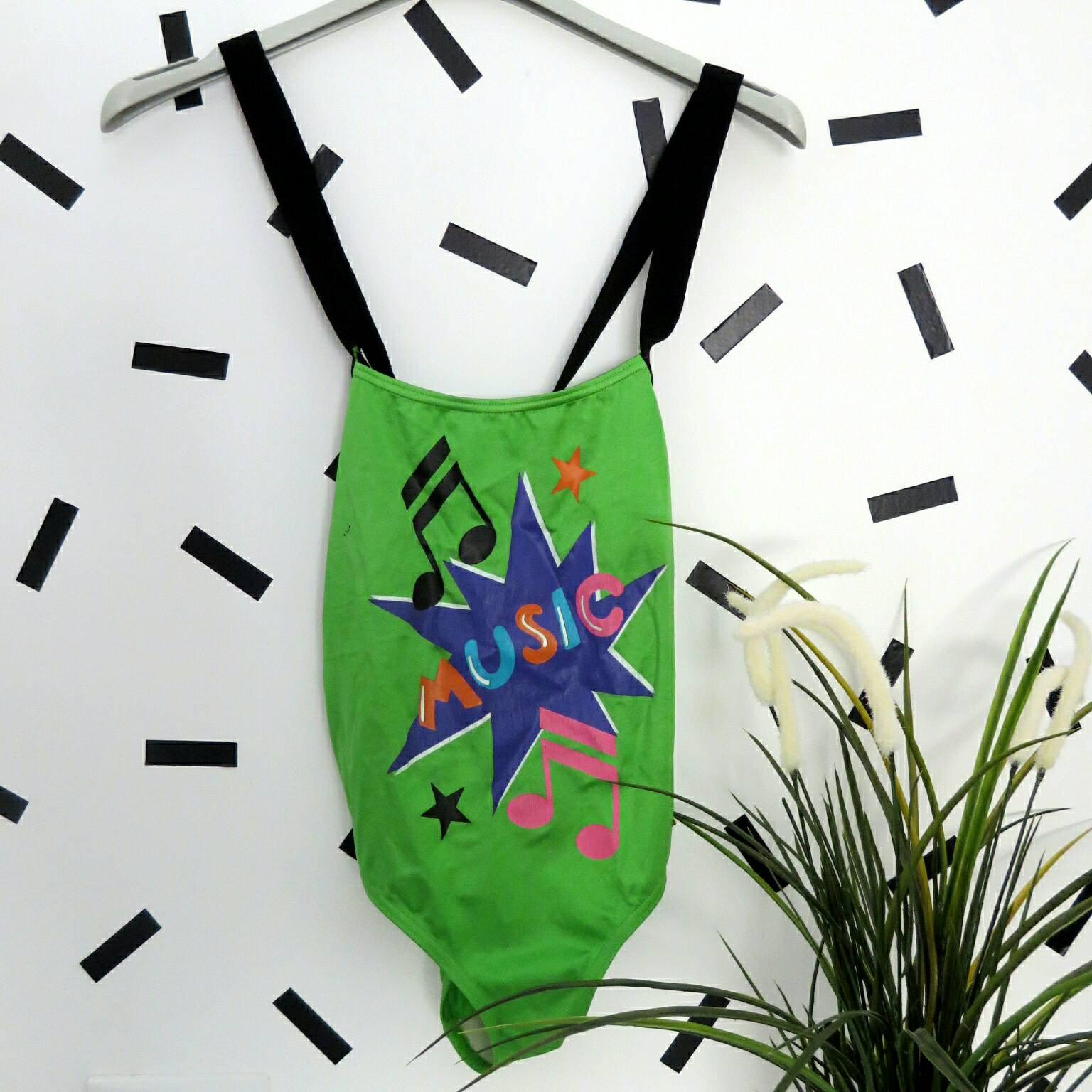 vintage 90 39 s body music maillot de bain abstrait taille. Black Bedroom Furniture Sets. Home Design Ideas