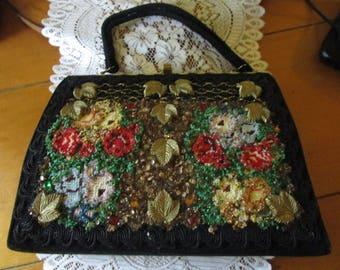 Vintage Purse, Caron Purse, Beaded Purse, Vintage Handbags, Vintage Purses, Designer Purse, Caron Houston, Beaded Purses, Handbags, Purses