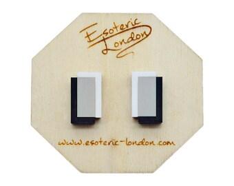 Geometric Stud Earrings/ Acrylic Jewellery/ Matte Studs/ Geo Studs/ Classic Studs/Chic Studs