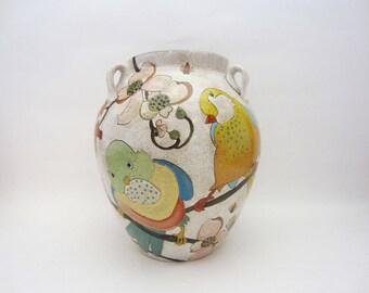 Flowers Birds and Berries Large Vase