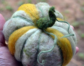 Needle Felted Trio of Pumpkins Waldorf Inspired